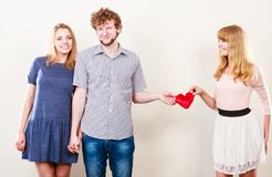 Happy triangle relationship Royalty Free Stock Photo