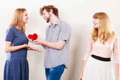 Happy triangle relationship Royalty Free Stock Photography