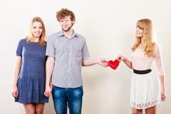 Happy triangle relationship Stock Photos