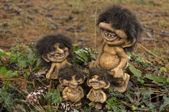 Happy Trolls family Royalty Free Stock Images