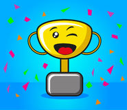 Happy Trophy Royalty Free Stock Photography