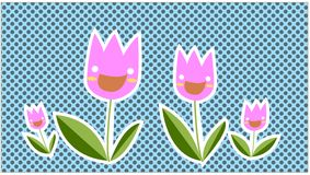 Happy tulip Stock Photos