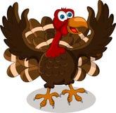 Happy turkey cartoon Stock Image