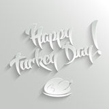 Happy Turkey Day - lettering Greeting Card Stock Photography