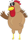 Happy turkey waving. Chubby, happy, waving vector turkey for thanksgiving Royalty Free Stock Image