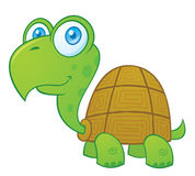 Happy Turtle. Vector cartoon illustration of a cute little turtle stock illustration