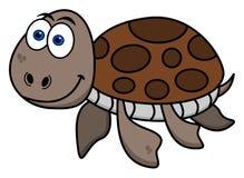 Happy turtle swimming Royalty Free Stock Photos