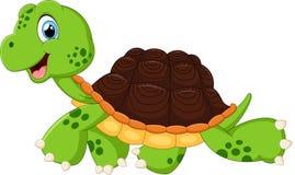 Happy turtle walking Stock Images