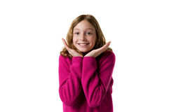 Happy tween girl Stock Photos