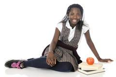 Happy Tween Schoolgirl Looking at You Stock Photography