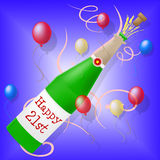 Happy Twenty First Shows Congratulation Congratulating And Party Stock Images