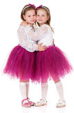 Happy Twins Royalty Free Stock Image