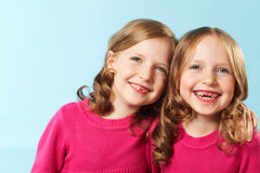 Happy twins Royalty Free Stock Images