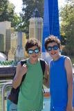 Happy twins portrait Royalty Free Stock Image