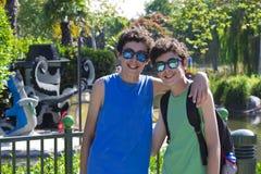 Happy twins portrait Stock Images
