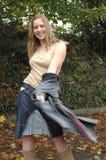 Happy twirl royalty free stock image