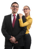 Happy two businesspeople Royalty Free Stock Photos