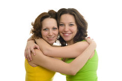 Happy two sisters Royalty Free Stock Image