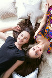Happy two sisters Royalty Free Stock Photo