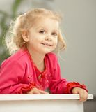 Happy two-year-old smiling Royalty Free Stock Photography