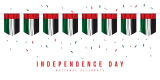 Happy UAE Independence Day Vector Design Illustration. Happy UAE Independence Day Vector Template Design Illustration vector illustration