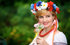 Happy Ukrainian woman Royalty Free Stock Image