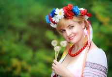 Happy Ukrainian woman Royalty Free Stock Images