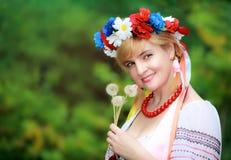 Happy Ukrainian woman Royalty Free Stock Images