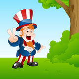 Happy Uncle Sam in Garden Royalty Free Stock Photos