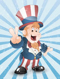 Happy Uncle Sam Grunge Vector Royalty Free Stock Photography