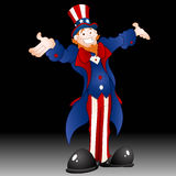 Happy Uncle Sam Vector Illustration. Cartoon Happy Cheerful Uncle Sam Character Portrait Vector Illustration vector illustration