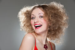 Happy unconcerned girl Royalty Free Stock Photography