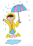 Happy Under The Rain Stock Images