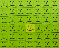 Happy and unhappy concept. Background of Sticky Notes. Royalty Free Stock Images