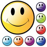Happy and Unhappy faces Royalty Free Stock Images