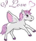 Happy unicorn stock photo