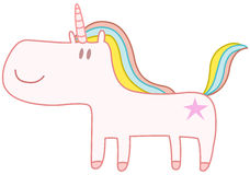 Happy unicorn Royalty Free Stock Photography