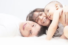 Happy United Caucasian Family Together Stock Photography