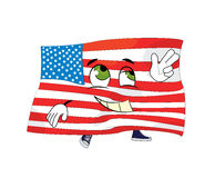 Happy united states of america cartoon Stock Images
