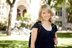 Happy University Girl Stock Image