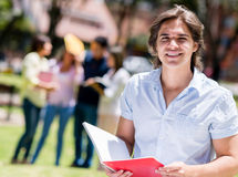 Happy university student Royalty Free Stock Photos