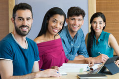 Happy university students Stock Image