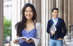Happy university students Royalty Free Stock Photos