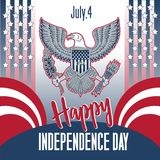Happy Independence Day. Independence Day 4th july 1776. vector illustration