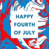Happy USA Independence day card Royalty Free Stock Images