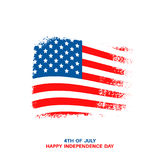 Happy USA Independence day card Stock Image