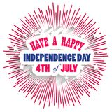 Happy USA Independence Day Fourth of July celebrate.  Royalty Free Stock Images