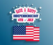 Happy USA Independence Day Fourth of July celebrate.  Stock Photo