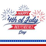 Happy USA Independence Day Fourth of July celebrate.  Stock Photos