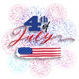 Happy USA Independence Day Fourth of July celebrate.  Royalty Free Stock Photo